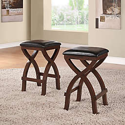 iNSPIRE Q®  Cross Base 24-Inch Counter Height Stools in Espresso (Set of 2)