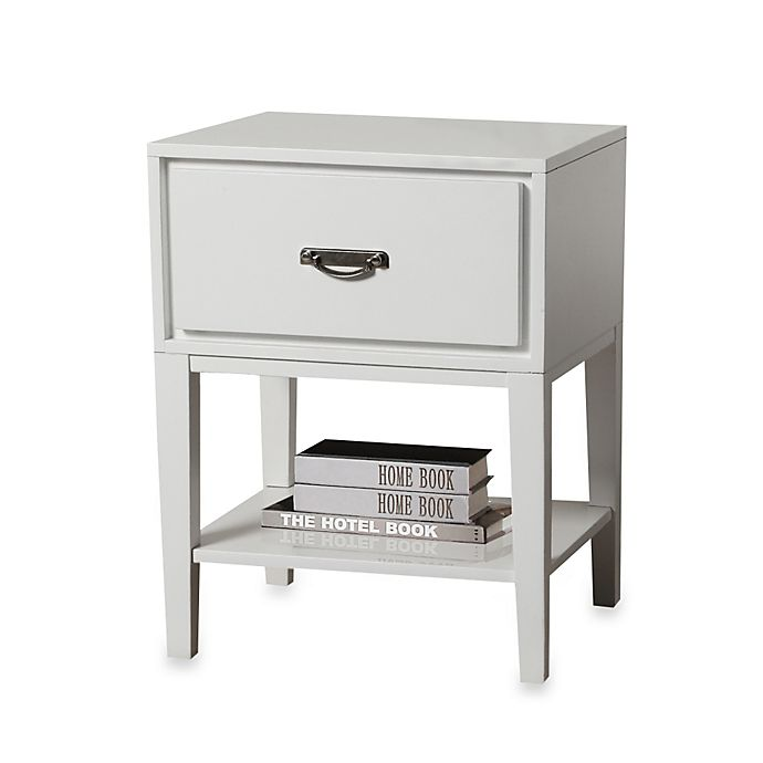 Alternate image 1 for iNSPIRE Q® One Drawer Accent Table/Straight Leg Nightstand in White