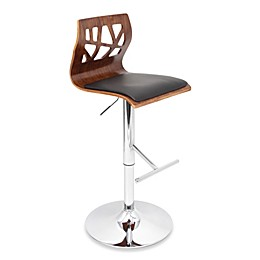 LumiSource Folia Bar Stool in Walnut