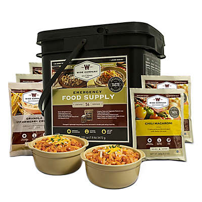 Wise Foods Company 56 Serving Entrée and Breakfast Emergency Food Bucket