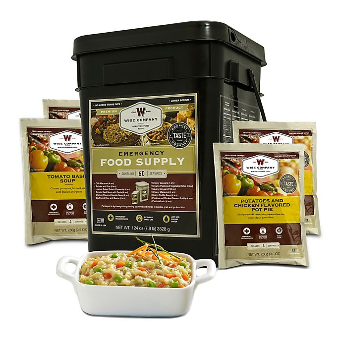 Alternate image 1 for Wise Foods Company 60 Serving Entrée Emergency Food Bucket