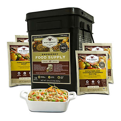 Wise Foods Company 60 Serving Entrée Emergency Food Bucket