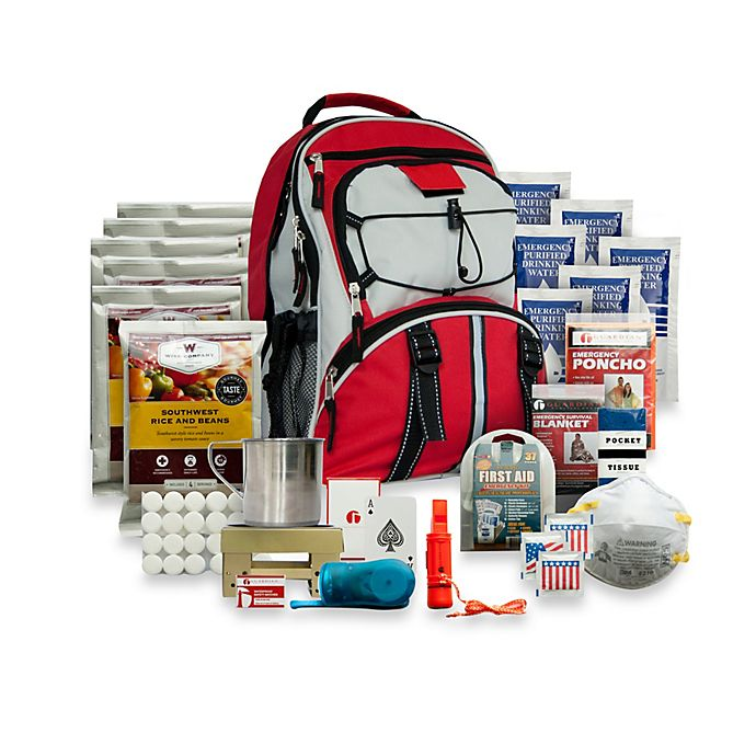 Alternate image 1 for Wise Foods Company 5-Day Survival Backpack in Red