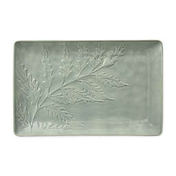 222 Fifth Tulace 15-Inch Rectangular Platter in Green