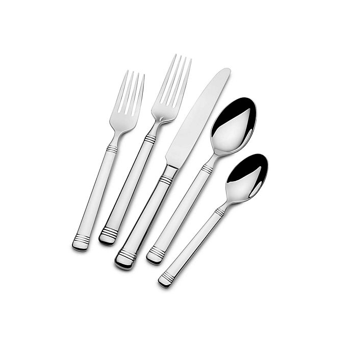 Alternate image 1 for Everyday Bistro Band™ by Fitz and Floyd® 45-Piece Flatware Set