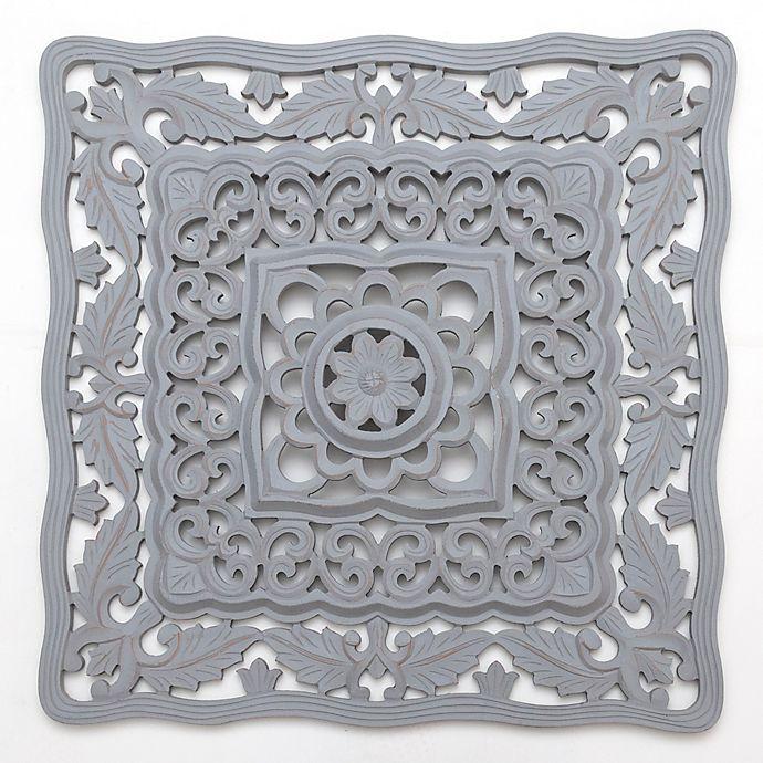 Alternate image 1 for Global Caravan™ Carved Wall Art in Grey