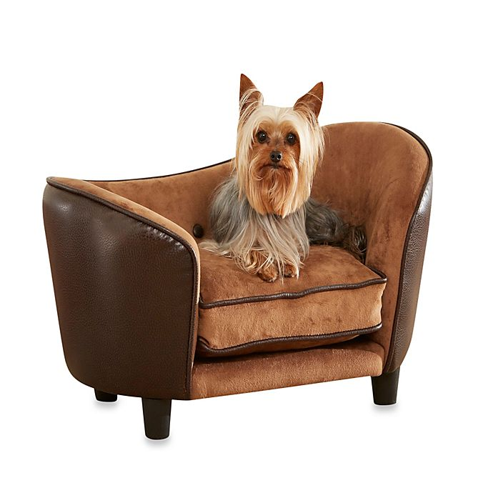 Alternate image 1 for Enchanted Home Pet Ultra Plush Snuggle Bed in Pebble Brown