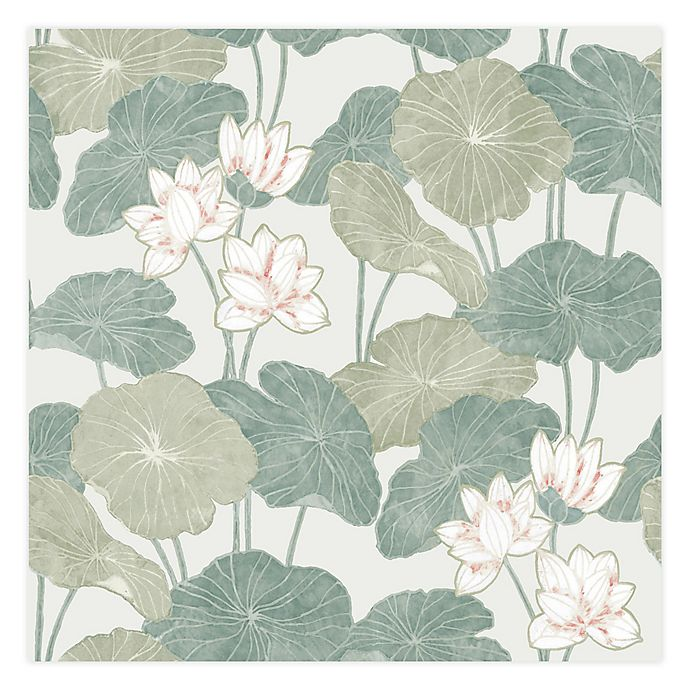 Alternate image 1 for RoomMates® Lily Pad Peel & Stick Wallpaper