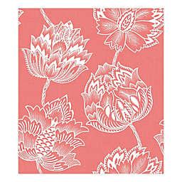 RoomMates® Batik Jacobean Peel & Stick Wallpaper in Pink/White