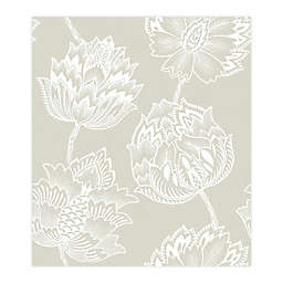 RoomMates® Batik Jacobean Peel & Stick Wallpaper in Beige/White