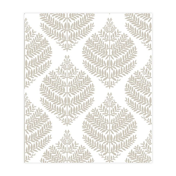 Roommates Hygge Fern Damask Peel Stick Wallpaper Bed Bath Beyond