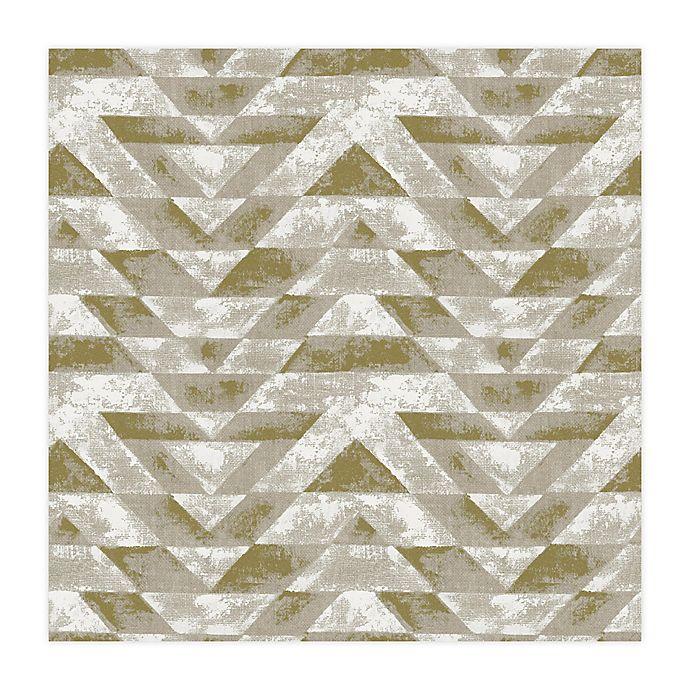 Alternate image 1 for RoomMates® Southwest Geometric Peel & Stick Wallpaper in Gold/Grey
