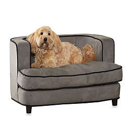 Enchanted Home Pet Ultra Plush Cliff Bed in Grey