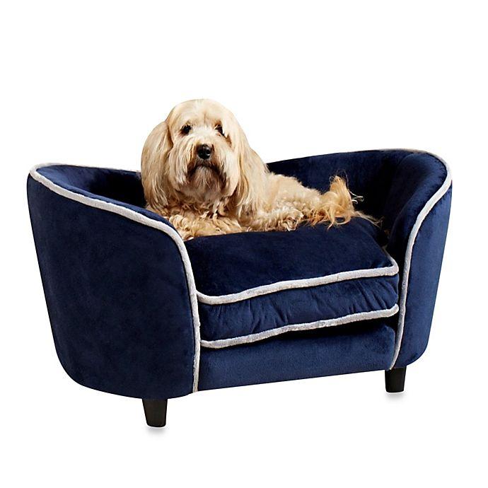 Pleasing Enchanted Home Pet Ultra Plush Large Snuggle Sofa In Navy Creativecarmelina Interior Chair Design Creativecarmelinacom