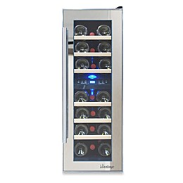 Vinotemp® Mirrored 21-Bottle Dual-Zone Wine Cooler