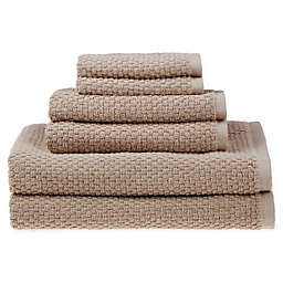 SALT® Quick Dry 6-Piece Towel Set in Plaza Taupe