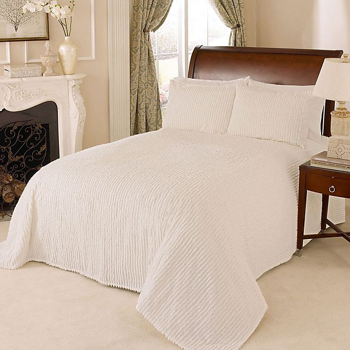 Alternate image 1 for Channel Chenille King Bedspread in White