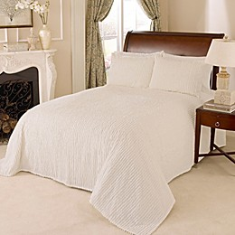 Channel Chenille Bedspread in Ivory