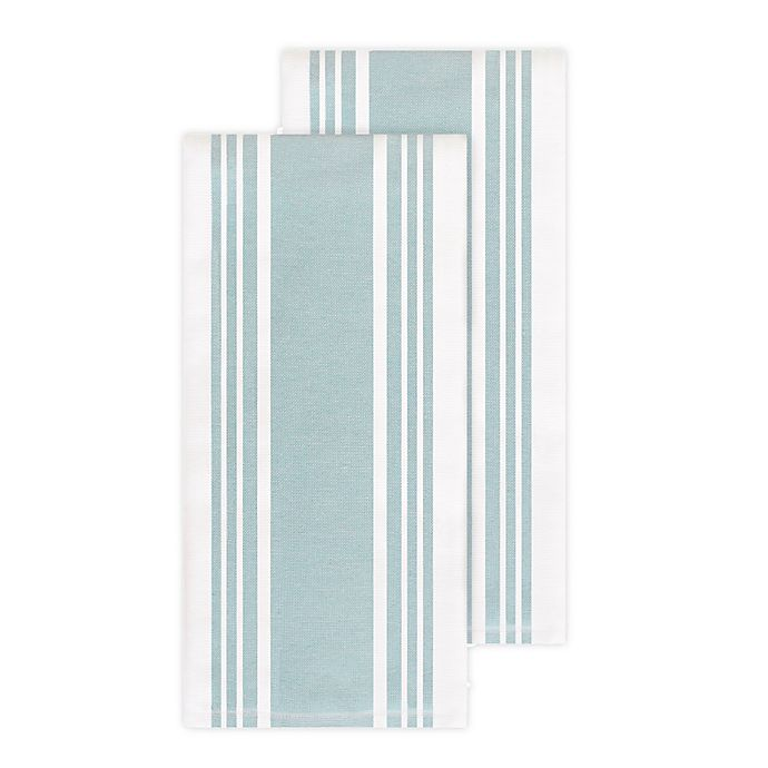 Alternate image 1 for All-Clad Striped Kitchen Towels (Set of 2)