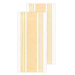 All-Clad Striped Kitchen Towels in Butter (Set of 2)