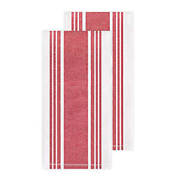 All-Clad Striped Kitchen Towels in Chili (Set of 2)