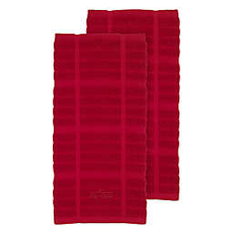 All-Clad Solid Kitchen Towels in Chili (Set of 2)