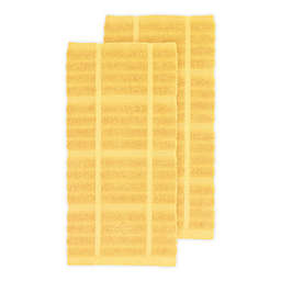 All-Clad Solid Kitchen Towels in Butter (Set of 2)