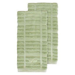 All-Clad Solid Kitchen Towels in Fennel (Set of 2)