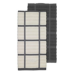 All-Clad 2-Pack Solid/Plaid Kitchen Towels