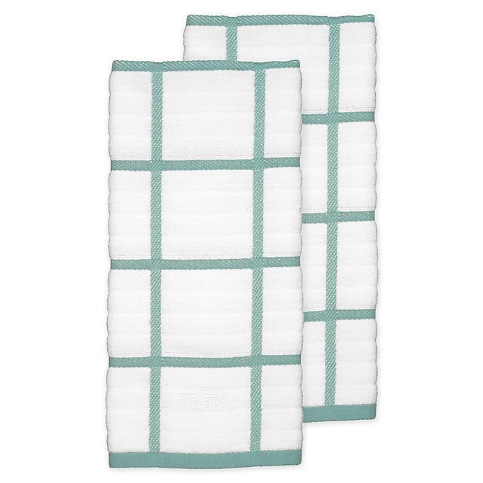 Alternate image 1 for All-Clad Plaid Kitchen Towels (Set of 2)