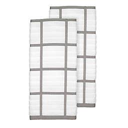 All-Clad Plaid Kitchen Towels in Titanium (Set of 2)