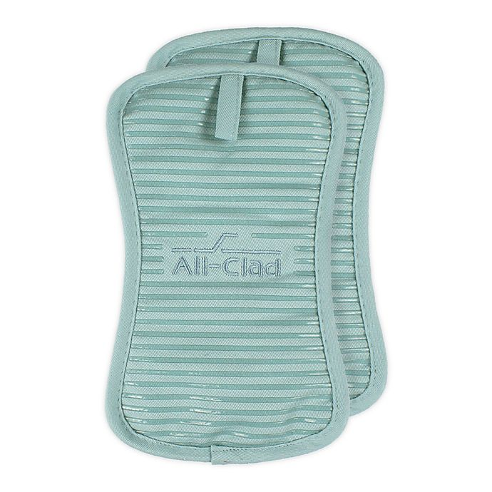 Alternate image 1 for All-Clad Silicone Pot Holders (Set of 2)