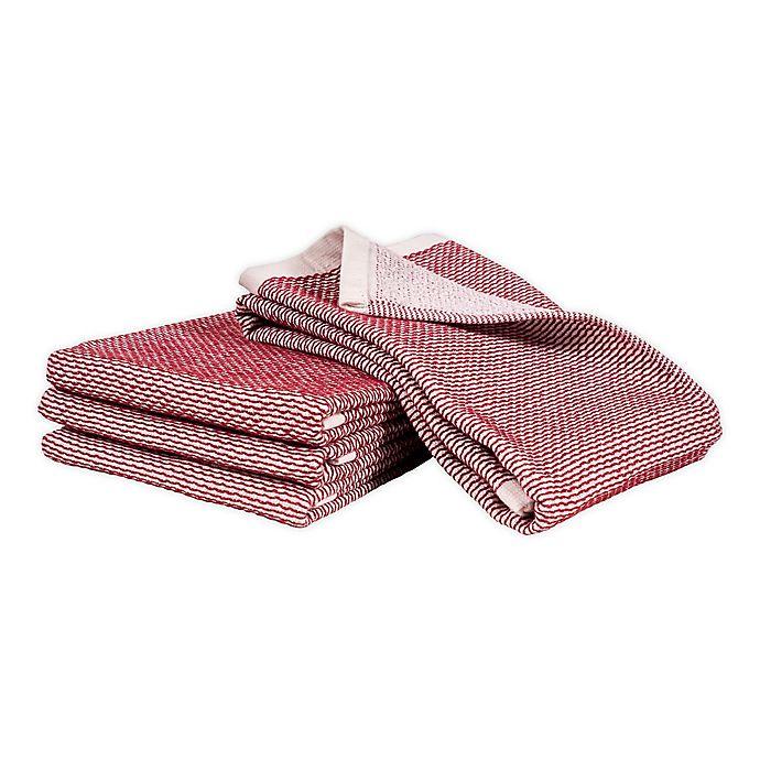 Alternate image 1 for Artisanal Kitchen Supply® Dual Purpose Pique Kitchen Towels (Set of 4)