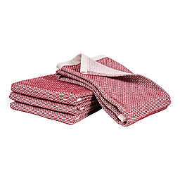 Artisanal Kitchen Supply® Dual Purpose Pique Kitchen Towels in Red (Set of 4)