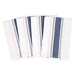Artisanal Kitchen Supply® Flour Sack Kitchen Towels in Navy (Set of 4)