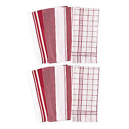 Artisanal Kitchen Supply® All Purpose Kitchen Towels in Red (Set of 8)