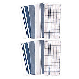 Artisanal Kitchen Supply® All Purpose Kitchen Towels in Navy (Set of 8)