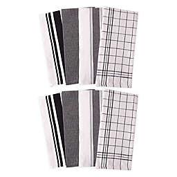 Artisanal Kitchen Supply® All Purpose Kitchen Towels in Black (Set of 8)