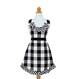 Country Chic Buffalo Check Apron in Black/White