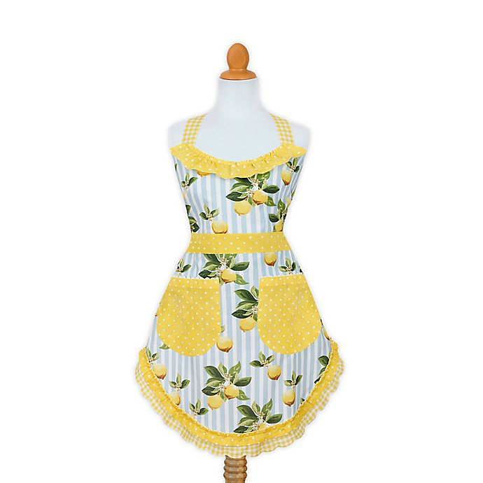 Alternate image 1 for Citrus Limon Apron in Yellow/Blue