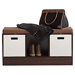 ORG 3-Cube Storage Bench in Espresso