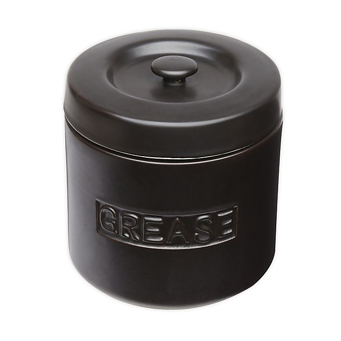 Alternate image 1 for Fox Run™ Porcelain Grease Container in Matte Black
