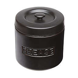 Fox Run™ Porcelain Grease Container in Matte Black