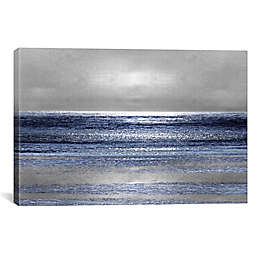 iCanvas Michelle Matthews Silver Seascape II Canvas Wall Art