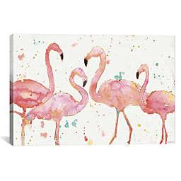 iCanvas Anne Tavoletti Flamingo Fever I Canvas Wall Art