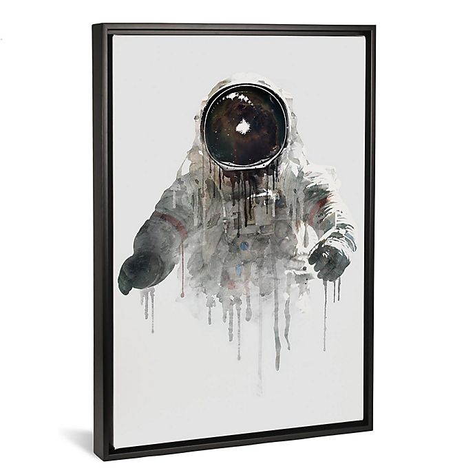 Alternate image 1 for iCanvas Astronaut II Canvas Wall Art with Black Frame