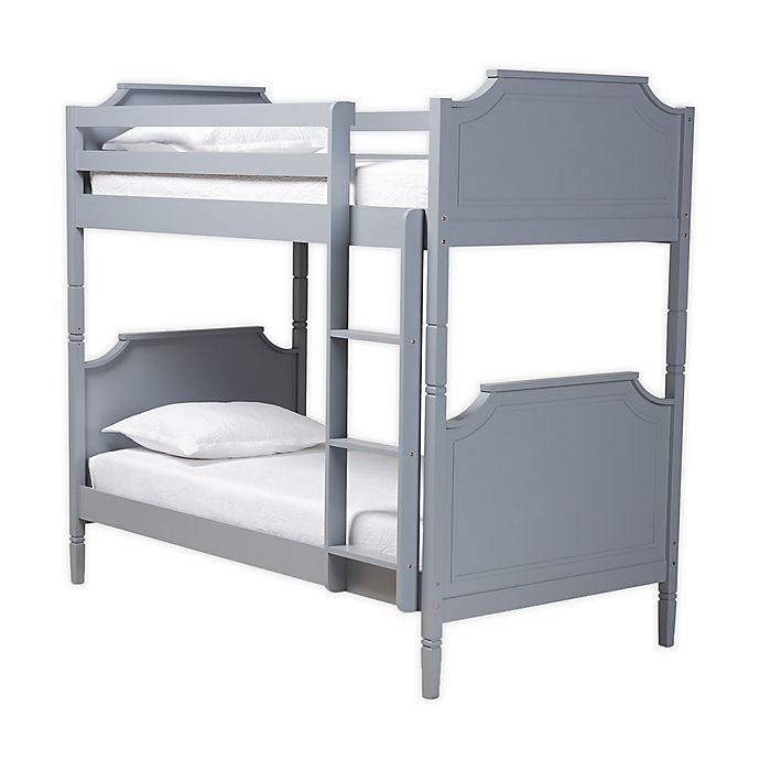 Alternate image 1 for Baxton™ Studio Victoria Twin Size Bunk Bed in Grey