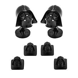 Star Wars™ 3D Matte Black Darth Vader Tuxedo Cufflinks and Stud Set