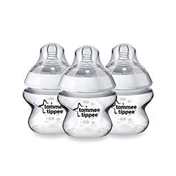 Tommee Tippee Closer to Nature 3-Pack 5 oz. Clear Baby Bottle