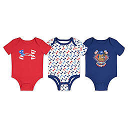 Under Armour® 3-Pack Americana Short Sleeve Bodysuits in Red/White/Blue